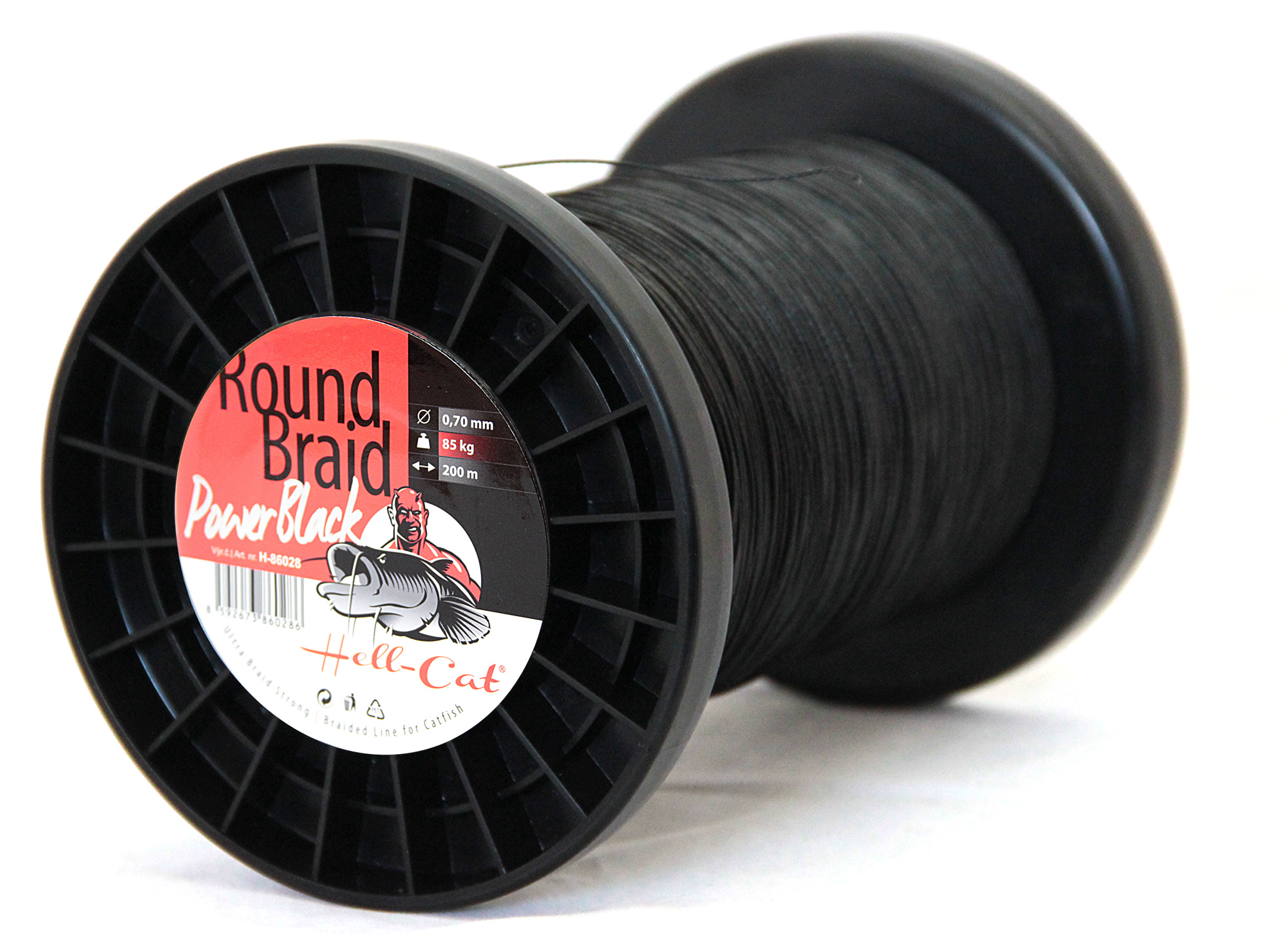 Hell-Cat - Šňůra Round Braid Power černá 0,80mm - 100kg - 1000m