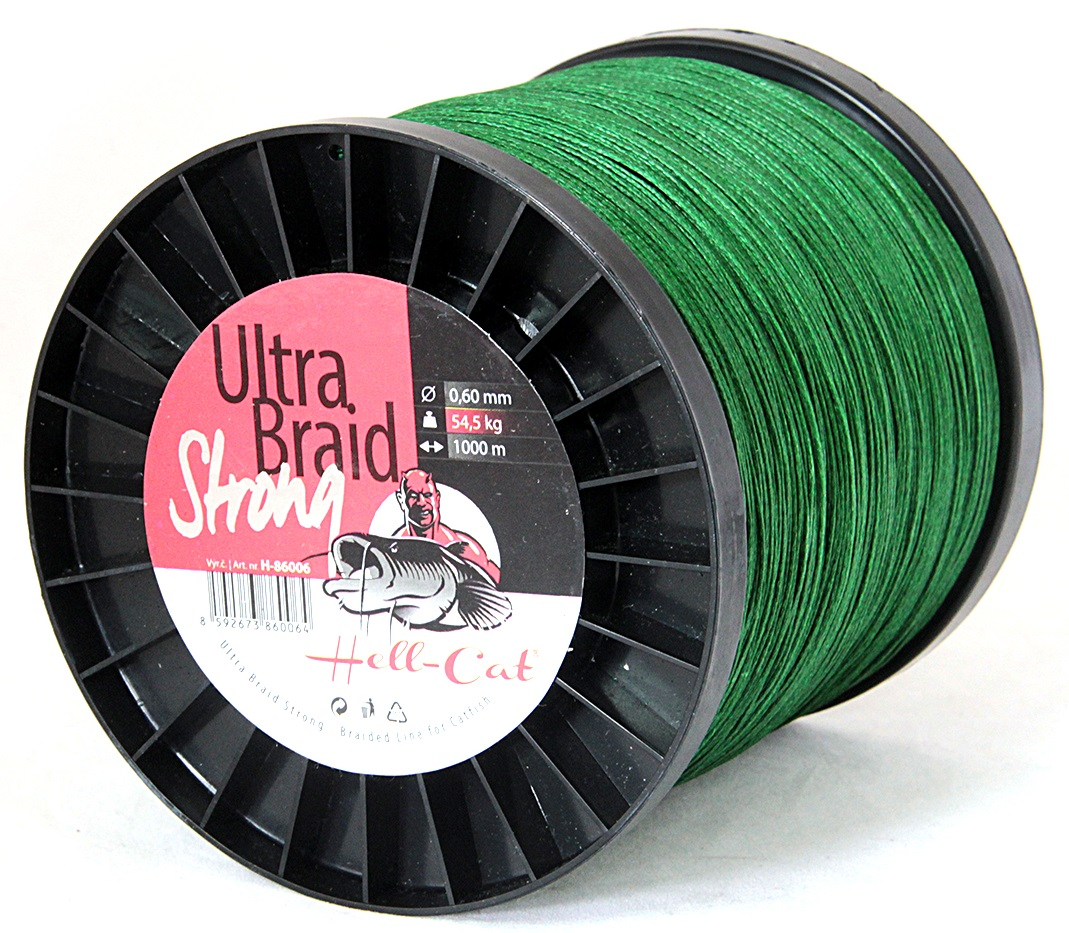 Hell-Cat - Spletená šňůra Ultra Braid Strong 0,70mm, 90,90kg - 1000m
