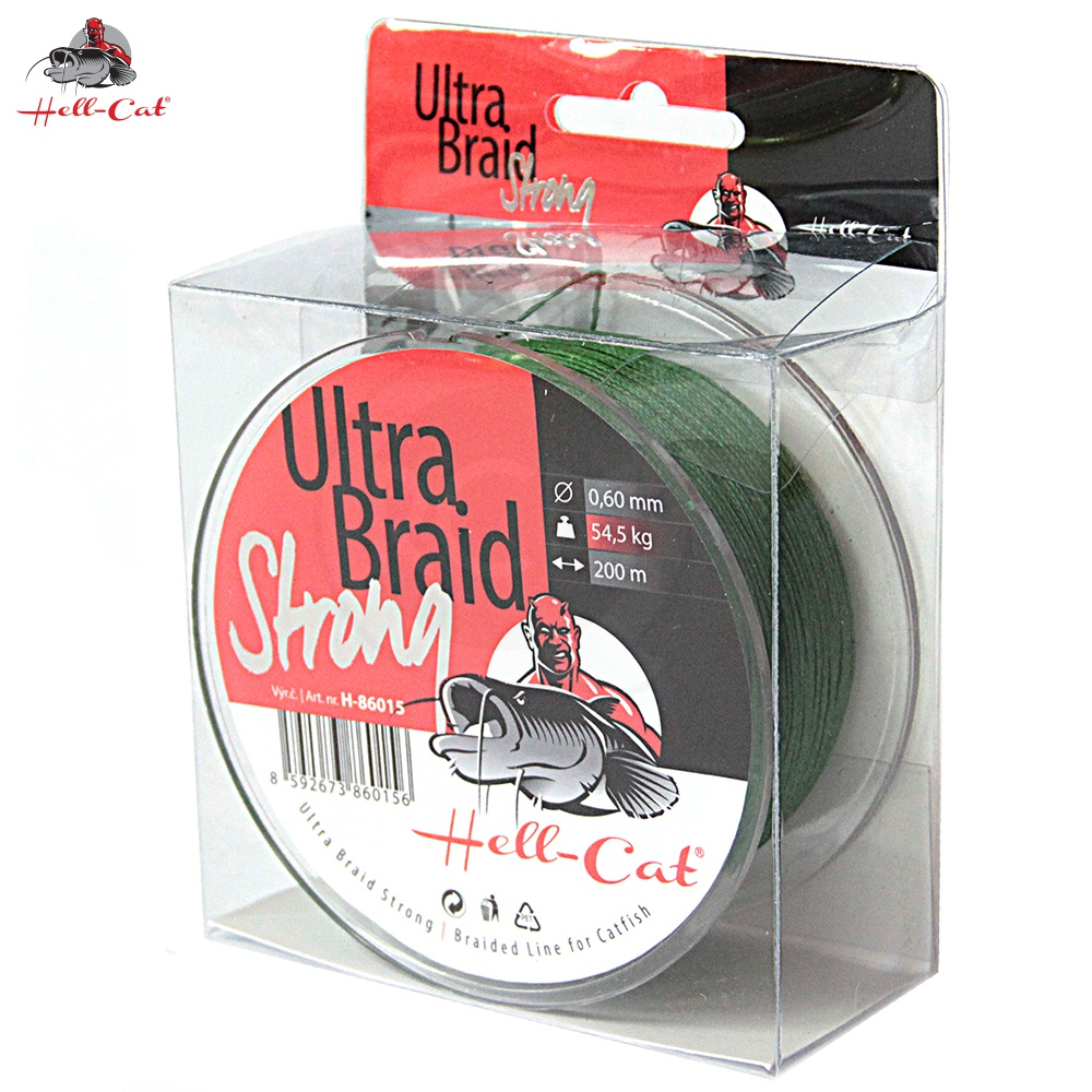 Hell-Cat - Spletená šňůra Ultra Braid Strong 0,48mm, 36,4kg, 200m