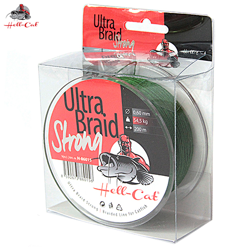 Hell-Cat - Spletená šňůra Ultra braid strong 0,60mm, 54,50kg, 200m