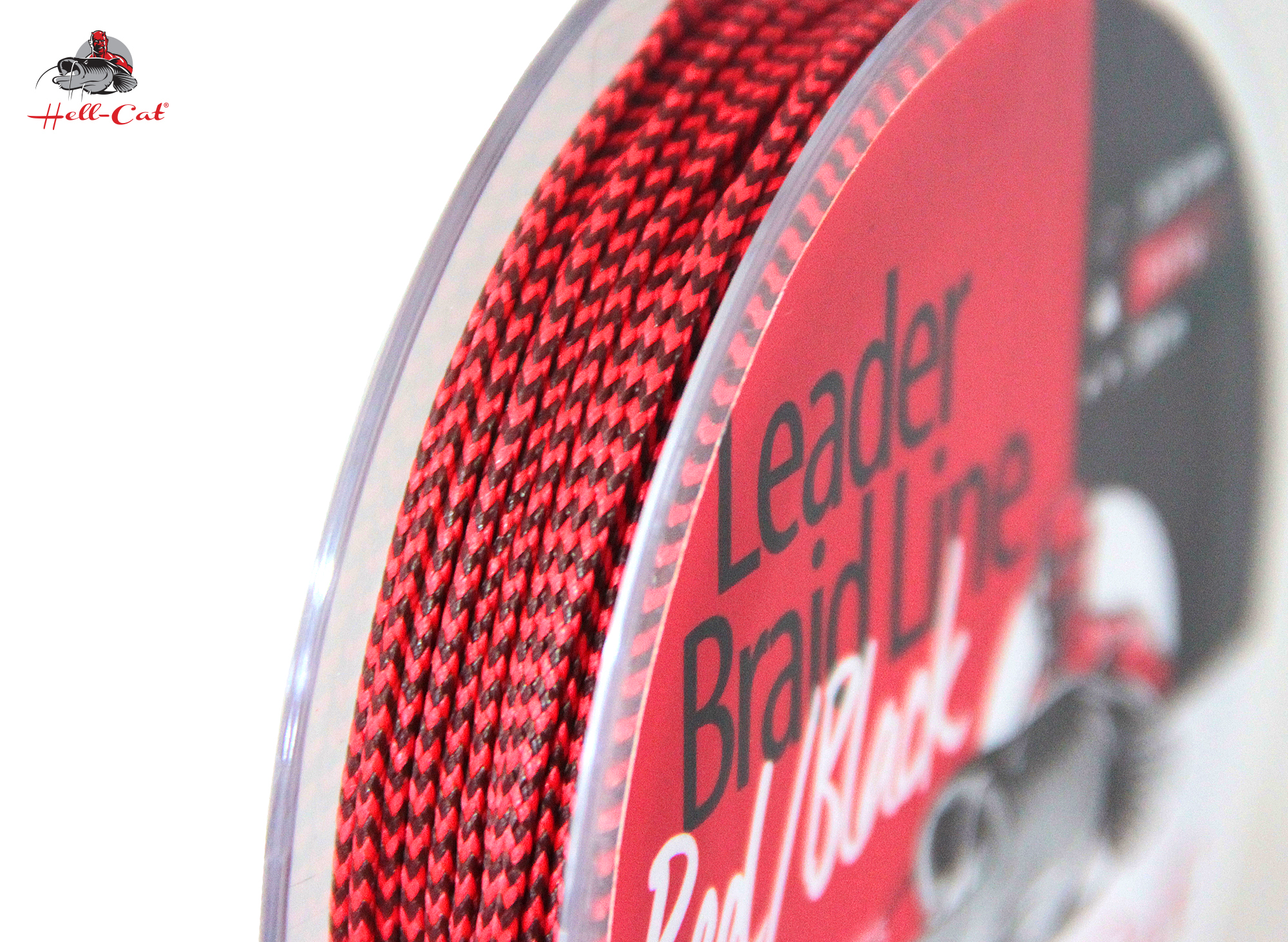 Hell-Cat - Návazcová šňůra Leader Braid Line Red/Black 1,55mm - 20m - 150kg
