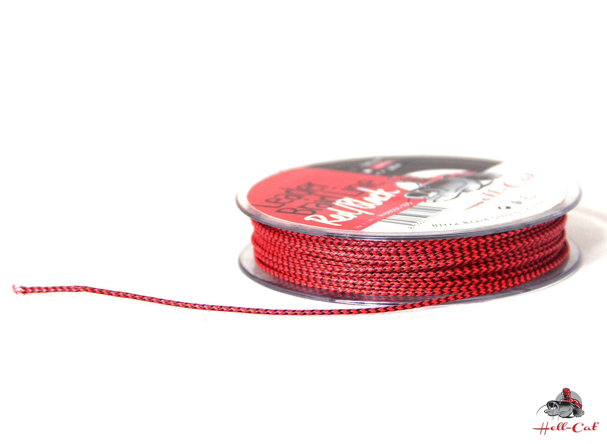 Hell-Cat - Návazcová šňůra Leader Braid Line Red/Black 1,20mm - 20m - 100kg