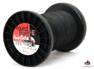Hell-Cat - Šňůra Round Braid Power černá 0,80mm - 100kg - 1m
