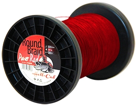 Hell-Cat - Šňůra Round Braid Power červená 0,50mm - 57,5kg - 1000m